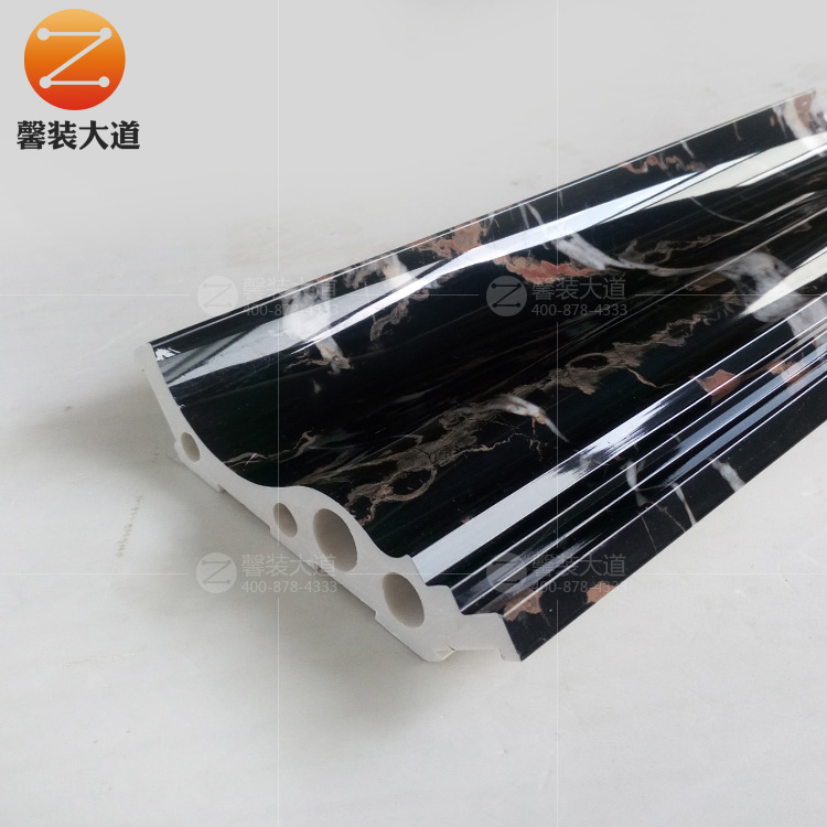 纳米科技石塑吊顶装饰线条ks-12cm   大黑金花